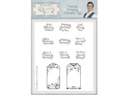 Timeless Everyday Sentiments Tags Clear Stamp Set