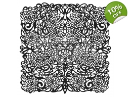 Flower Tangle 6x6 inch Stencil