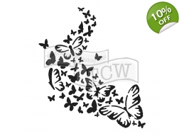 Butterfly Trail 6x6 inch Stencil