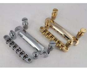 TUNE-O-MATIC Bridge & Stop Bar for Gibson Style Guitars Chrome Gold