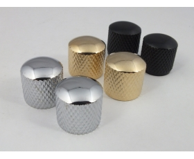 Guitar Knobs Push Fit in Chrome, Gold or Black to fit Telecaster