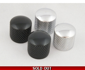 PRECISION Bass Style Knobs in Chrome or Black Metal Push Fit