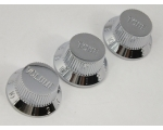 Chrome Volume & Tone Knobs  5.9mm Shaft Pots for..
