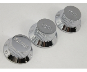 Chrome Volume & Tone Knobs  5.9mm Shaft Pots for Stratocaster