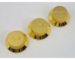 Gold Volume & Tone Knobs 5.9mm Shaft Pots to fit..