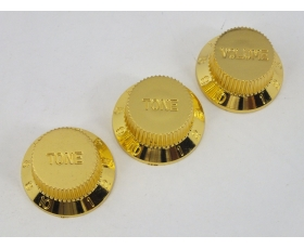 Gold Volume & Tone Knobs 5.9mm Shaft Pots to fit Stratocaster