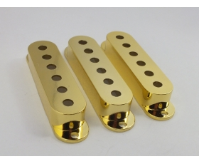 GOLD Single Coil Pick Up Covers 52mm or 50mm spacing for Stratocaster