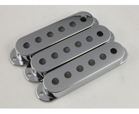 CHROME Pickup Covers 52mm or 50mm spacing for Stratocaster