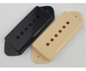 P90 DOG EAR Pickup Covers for Les Paul Junior Style in Black or Cream