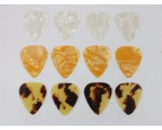 12 TEAR DROP Plectrums 5 Colours Celluloid