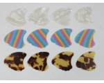 12 SHARK FIN Plectrums 4 Colours Celluloid