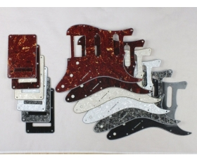 HSS Scratch Plate Pickguard SET in 6 Cols for USA/Mex Stratocaster