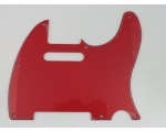 Red 3 ply Scratch Plate pickguard to fit USA/Mex..