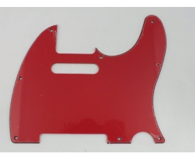 Red 3 ply Scratch Plate pickguard to fit USA/Mex 8 hole TELECASTER