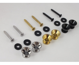 STRAP PINS for Electric or Bass Guitar in Chrome, Black or Gold