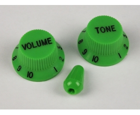 Green Volume & Tone KNOBS for Ibanez guitar + optional matching Tip