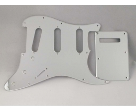 Mirror Chrome SSS Scratch Plate Pickguard SET for Stratocaster