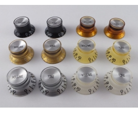 Bell REFLECTOR KNOBS Top Hat 6 Colours for Gibson style guitars