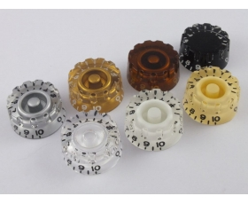 Knurled Speed Dial Knobs for USA Gibson Guitars in 7 Colours