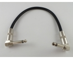 Heavy duty Patch Lead 30cm Right Angled Metal 1/..