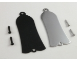 Gibson Metal Truss Rod Cover Chrome or Black + S..
