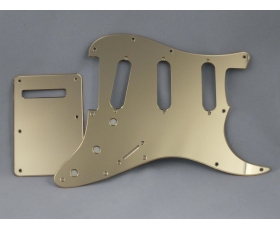 Mirror Gold SSS Scratch Plate Pickguard SET for Stratocaster