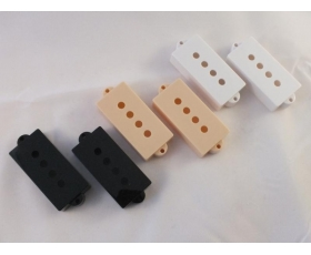 Pair of PICK UP COVERS in Black, Cream or White for Precision P Bass