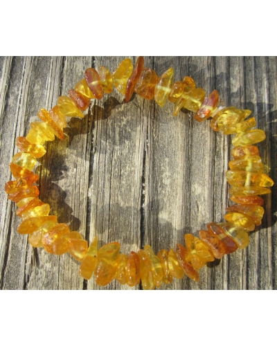 "Baltic Amber Nuggets Stretch Bracelet Adult Size  -- ""The Sunrise"""