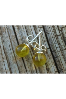 Baltic Amber Earrings Studs ..