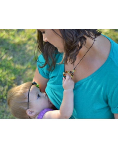 "Breastfeeding Necklace Baltic Amber ""Mother's Love"""