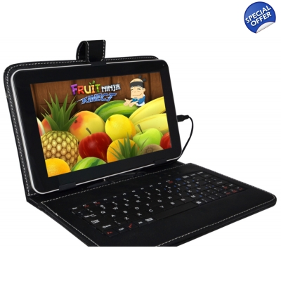 "NovaPad Prime Android 4.4 KitKat Tablet PC USB Keyboard Case Bundle 10.1"" Capacitive Quad Core Allwinner A31S CPU 16GB"