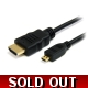 MICRO HDMI Type D to HDMI Type A DIGITAL CABLE 1..