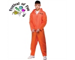 Orange Convict Suit Costume - Prisoner Overalls