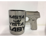 Hasta La Vista Baby Gun Mug - Gangster Bling Tea..