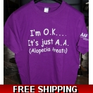 AAAF Slogan T-Shirt I'm OK Purple