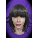 Shoulder Length Straight Bob with Frin..