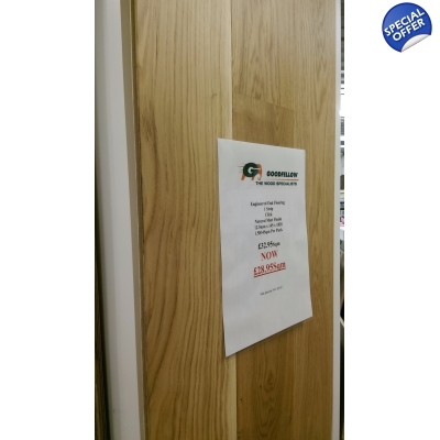 Magnum Natural Engineered Oak Uniclic Matt Lacquered