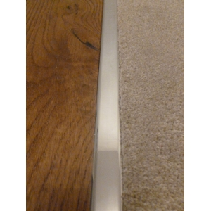 Polished Chrome Effect Z Plate 13mm Door Threshold