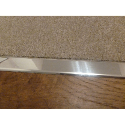 Polished Chrome Effect Z Plate Door Threshold