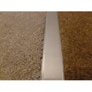 Polished Chrome Effect Dual Grip Door Threshold
