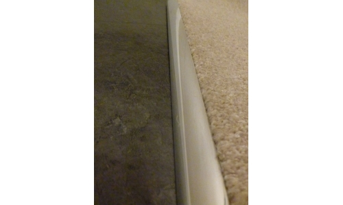 Polished Chrome Effect Single Grip Door Threshold