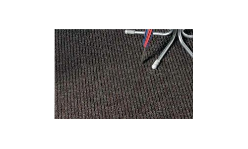 Rib Door Mat Heavy Duty 1m wide  Black