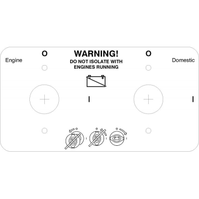 S25 Battery switch label