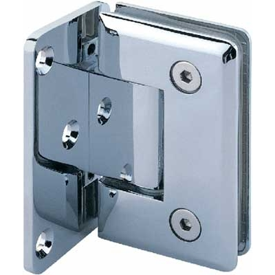 Shower screen hinge Wall to glass clamp