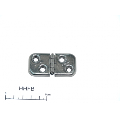 Back flap hinge 32 x 61mm stainless