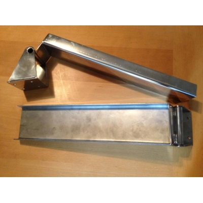 Fold out stainless steel dinghy chocks - pair