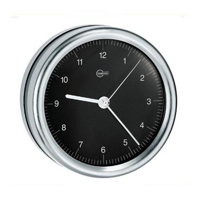 Clock black face quartz
