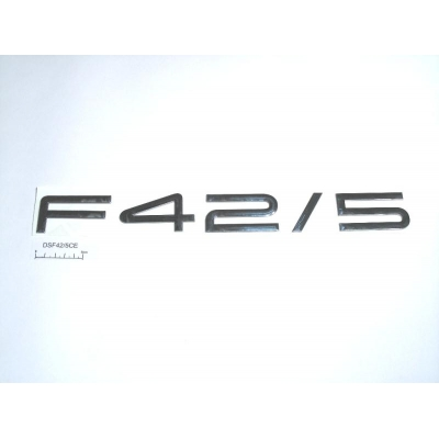 Decal F42/5 raised chrome