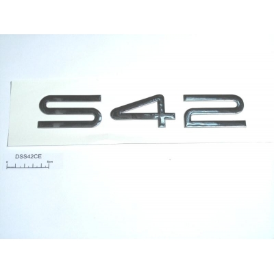 S42 raised chrome decal