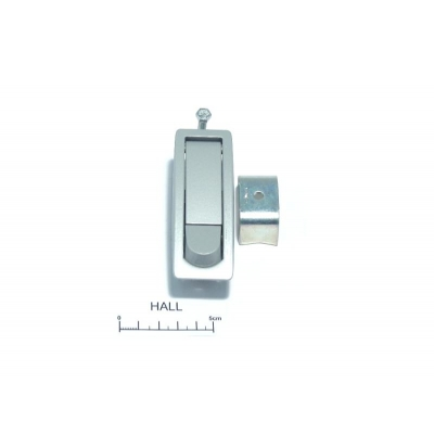 Push latch for clamshell cover